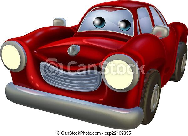 vektoren von karikatur auto maskottchen a rotes karikatur auto csp22409335 suchen. Black Bedroom Furniture Sets. Home Design Ideas