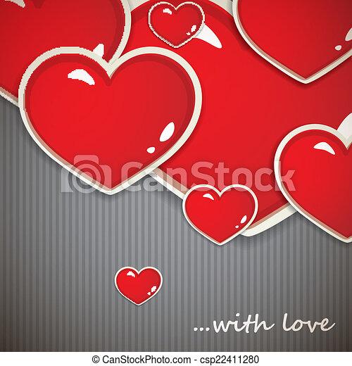 cœurs, petite amie, jour, fond - csp22411280