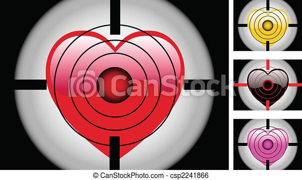 Aim Target Logo Target Heart Csp2241866