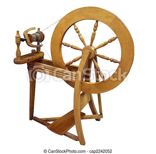 Antique Spinning Wheel - csp2242052