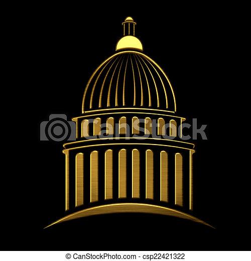 clip art of golden capitol building icon csp22421322 capitol building clipart white capitol building clip art free