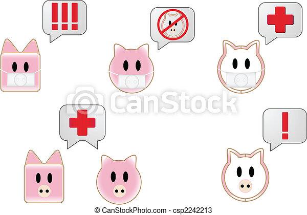 Swine Flu Bubbles - csp2242213