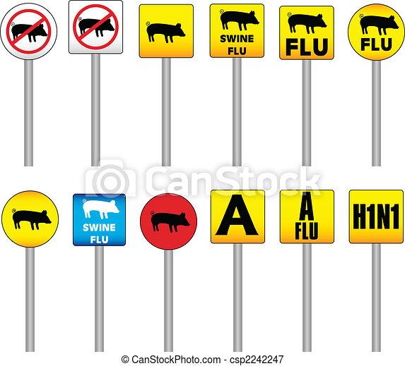 Swine Flu Signs - csp2242247