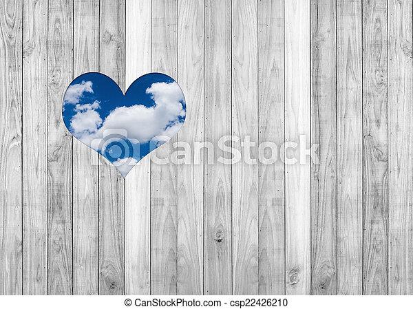 photographies de coeur mur int rieur ciel texture s bois fond blanc csp22426210. Black Bedroom Furniture Sets. Home Design Ideas