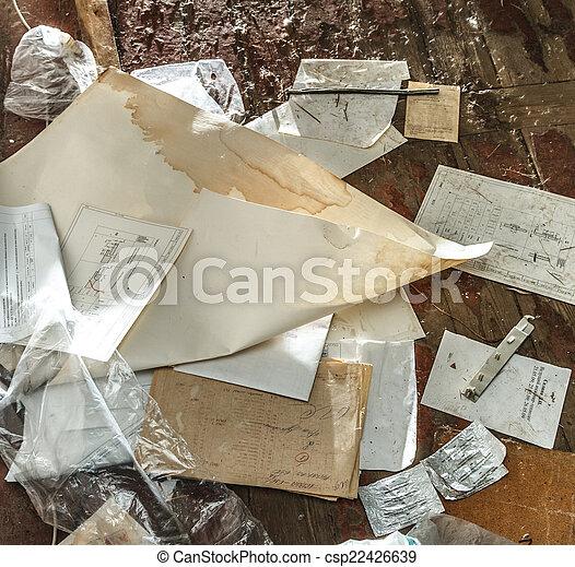 雜亂, 紙, 地方 - csp22426639