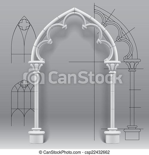 Gothic arch - csp22432662