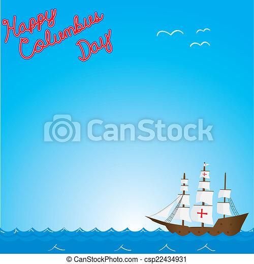Happy columbus day - csp22434931