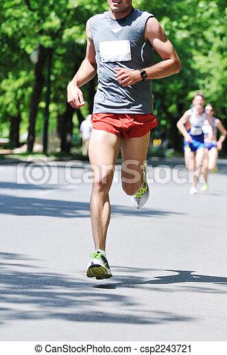 marathon man run - csp2243721