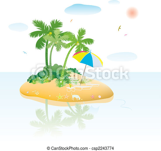 tropical island - csp2243774