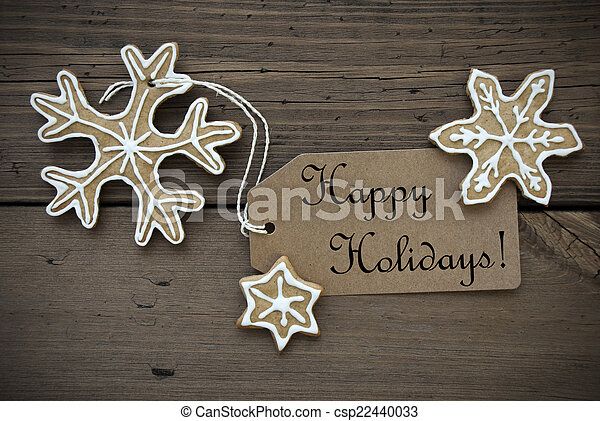 Happy Holidays with Ginger Breads - csp22440033