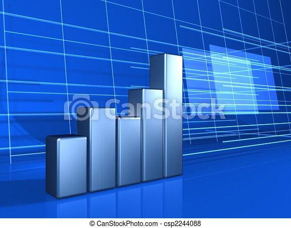 finance chart background - csp2244088
