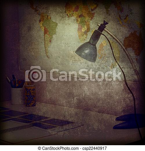 Student desk background