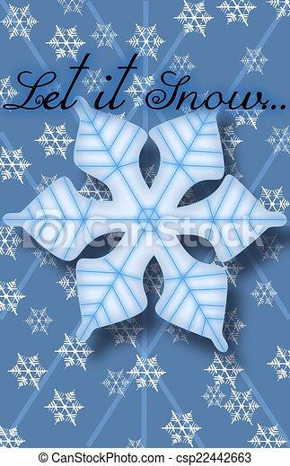 Let it Snow - csp22442663
