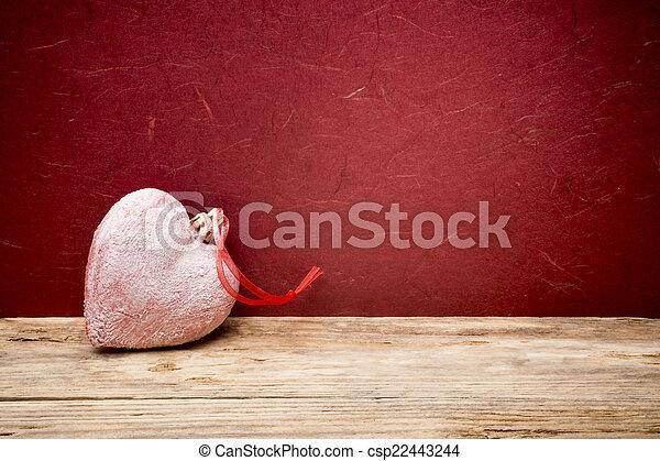 valentines, corações, Dia, fundo - csp22443244