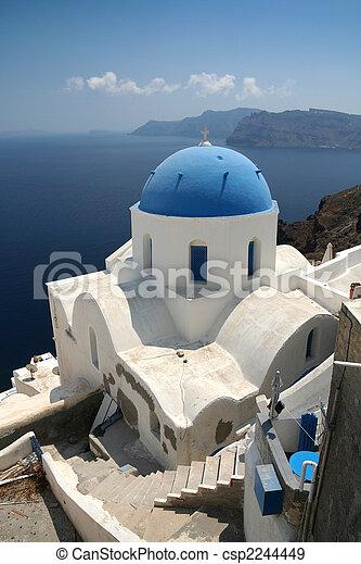 Santorini, chiesa - csp2244449