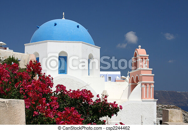 Church on Santorini - csp2244462