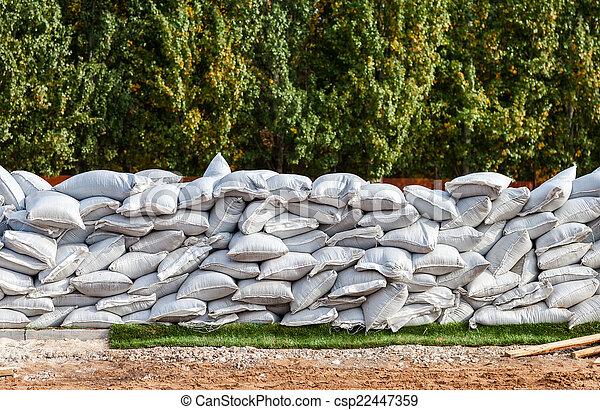 Images de usage inondation d fense sacs sable militaire ou sacs csp - Sac de sable inondation ...