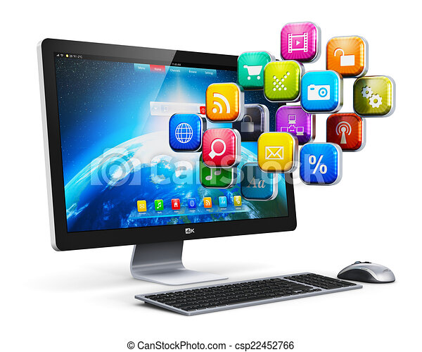 Stock illustration of computer applications and internet Free computer art programs