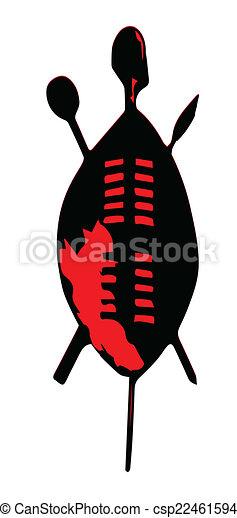 EPS Vectors of Zulu Shield - A typical Zulu shield and ... Zulu Shield Drawing