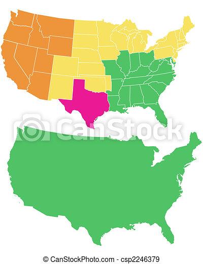 USA map - csp2246379