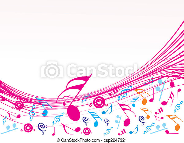Musical wave of musical notes - csp2247321