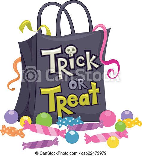Trick Or Treat Candy Clipart Vectors Illustr...