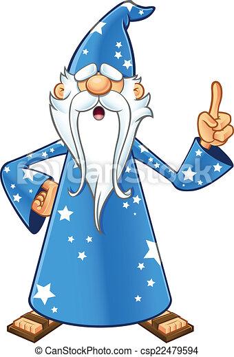 vecteur bleu vieux magicien ide avoir