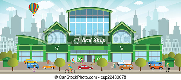 Shopping in the city - csp22480078