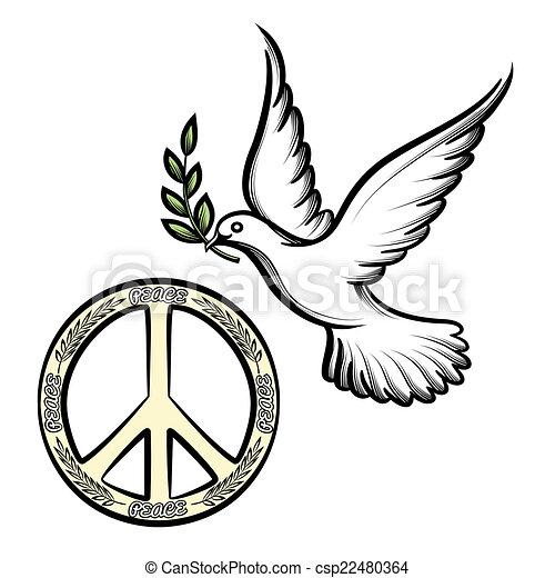Clip Art Vecteur de paix, Colombe, pacifique - pacifique, anti-war ...Dove Bird Drawing Tattoo