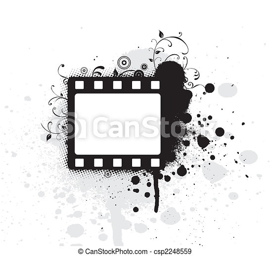 Editable vector grunge film frame , nice element for your projects - csp2248559
