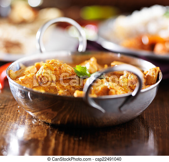 Stock Photo - indian butter chicken curry with basmati rice - stock ...