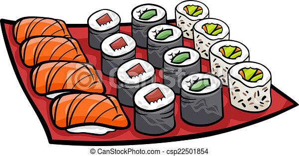 Vecteur Clipart De D 233 Jeuner Sushi Dessin Anim 233