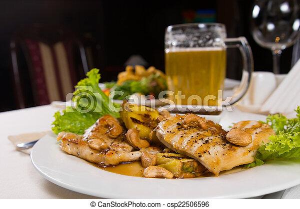 모듬 명령, 맛좋은, 변제의 제공, 고기, 접시,... csp22506596의 스톡 ...