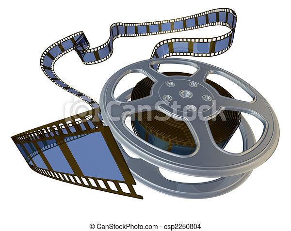 3d rendered film reel  - csp2250804