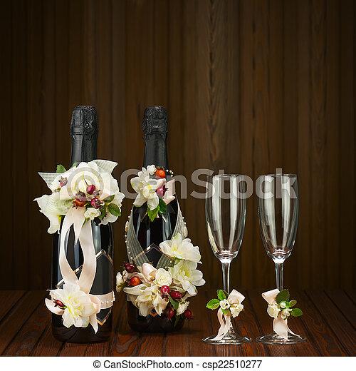 Image de fleur bouteilles décoration verre ar mariage