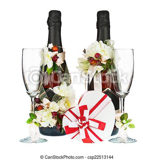 Flaskor och glas