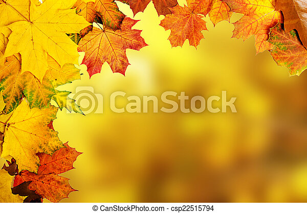 otoño, hojas, marco - csp22515794