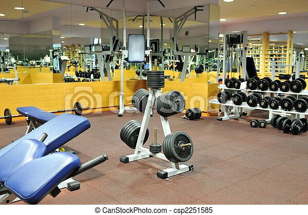 Klubba, gymnastiksal,  fitness - csp2251585