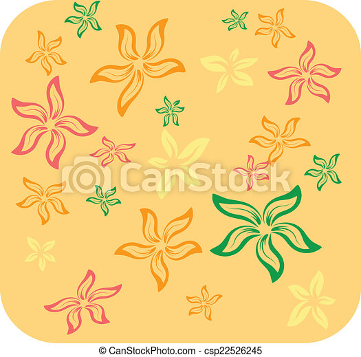 Abstract  background with flower - csp22526245