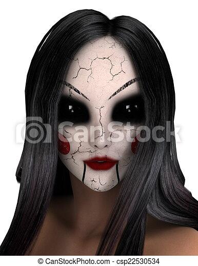 Dessins de a horreur maquillage femme femme qui a - Dessin horreur ...