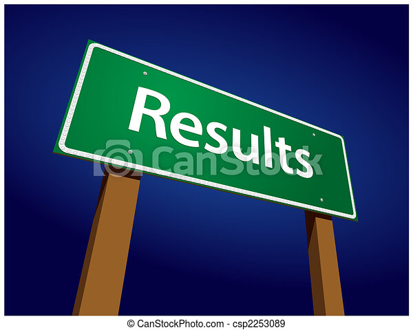 Results Green Road Sign Illustration - csp2253089