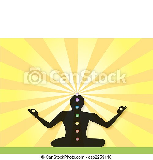 Yogi Meditating in Lotus Posture - csp2253146