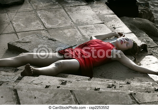 Girl Dead On Bed Bikini