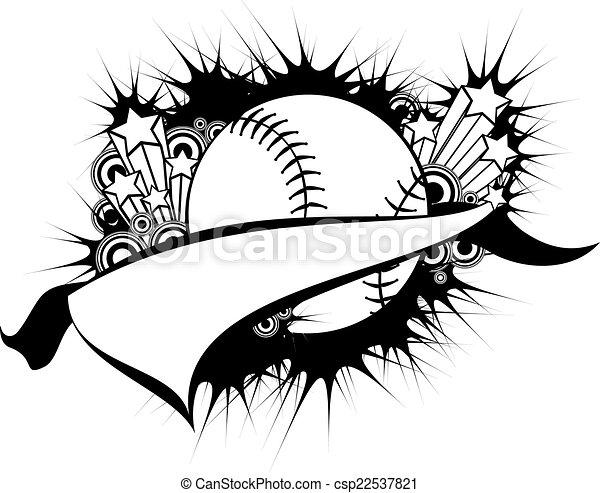 Baseball or Softball Pennant - csp22537821