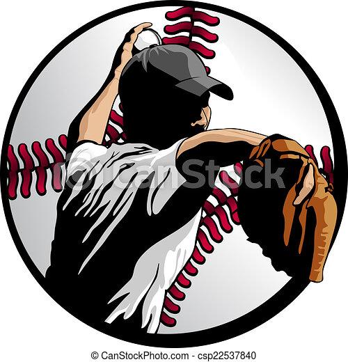 Baseball Pitcher Closeup In Ball