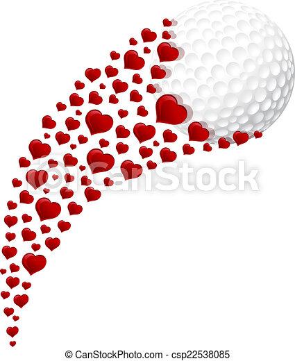 Golf Heart Swoosh - csp22538085