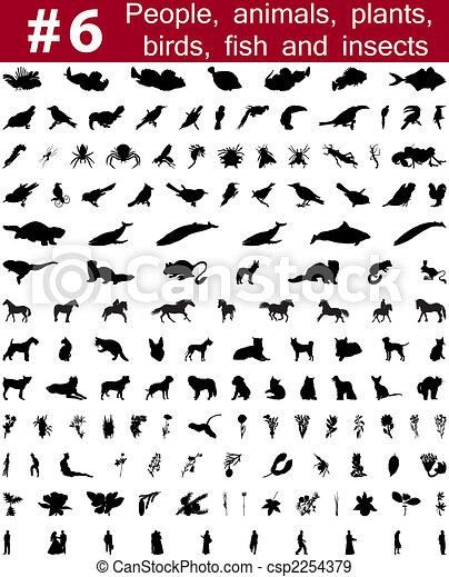 vector silhouettes set. Set # 7 - csp2254379