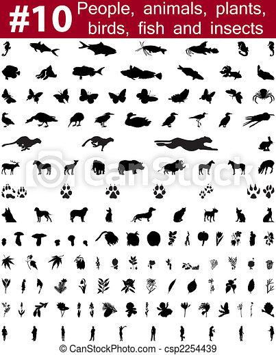 vector silhouettes set. Set # 10 - csp2254439