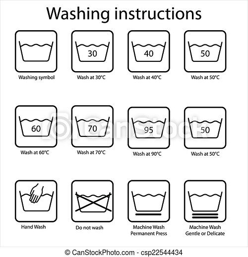 Vecteurs de instruction lavage washing instruction - Logo lavage machine ...