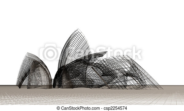Architectural contemporary forms - csp2254574